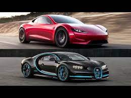 The irony of bugatti celebrating the top speed run's anniversary through a bottle of special champagne could become an ironic toast. 2020 Tesla Roadster Vs 2018 Bugatti Chiron Top Speed Youtube