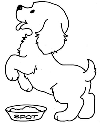 Small Picture Coloring Pages Draw A Puppy clarknews