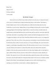 english essay rhetorical analysis njie tiara njie 7 pages essay 3 my brother s keeper