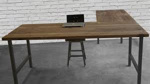attractive wooden office desk. Brilliant L Shaped Desk Reclaimed Wood And Steel Attractive Office For 8 Wooden R
