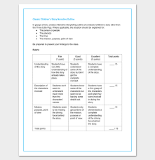 How To Write A Children S Story Template Childrens Story Outline Template Story Outline Template