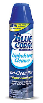 carpet and upholstery cleaner. blue coral dc22 upholstery cleaner dri-clean plus with odor eliminator, 22.8 oz. carpet and