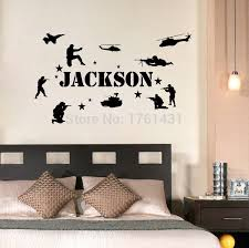 Personalized Name U0026 Military Soldiers Army Marines Wall Decals Vinyl  Stickers Home Decor Bedroom Wallpaper Quote In Wall Stickers From Home U0026  Garden On ...