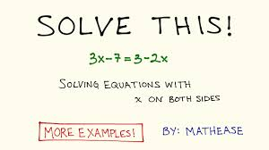 solving equations with x on both sides example problems