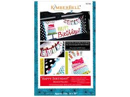 Kimberbell Designs Kimberbell Designs Happy Birthday Bench Pillow Pattern 1