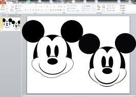 パワーポイントで図形を使って描く絵ミッキー編 パソコン教室
