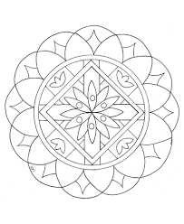 Small Picture Simple mandala 2 Mandalas Coloring pages for kids to print color
