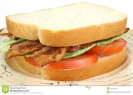 Blt Sandwich On White Bread Stock Image Image Of Healthy Sandwich