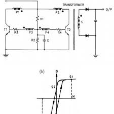 circuit diagram of high voltage multiplier and resistive divider for a circuit diagram showing operating principle of gain limited switching b