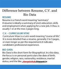 What Is The Difference Between A Curriculum Vitae And A A Href