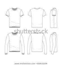 Short Templates Vector Clothing Templates Blank Shirts Short Stock Vector Royalty