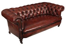 genuine victorian antique leather chesterfield sofa la108312 loveantiques com