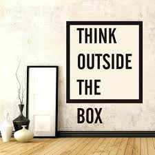 wall decal for office. Inspirational Wall Decals For Office Think Outside The  Box Quote Sticker . Decal