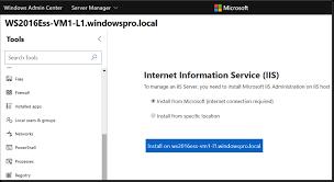Manage Internet Information Services Iis Using Windows
