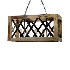 boxed wood crate chandelier