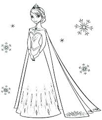 frozen coloring book pages color printable free
