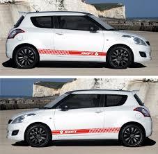 ssk140 suzuki swift 3 5 doors maruti drift rally racing side car stripes kit sticker