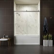 kohler tub door new kohler levity 60 in x 62 in semi frameless sliding tub door