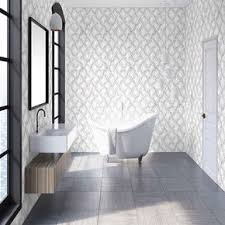 Image Wall Large Marble Marquetry White Rose Gold Wallpaper Graham Brown Wallpaper For Bathrooms Powder Room Wallpaper