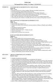 Customer Service Representative Customer Service Resume Example