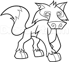 How To Draw An Animal Jam Wolf Step By Step Video Game