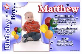 1st Birthday Party Invitation Template 1st Birthday Invitation Template Gildenlow
