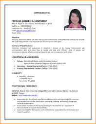 15+ Sample Of Curriculum Vitae For Job Application | Wine Albania