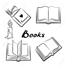 sketch of books hand drawn books set opened and closed books books vector