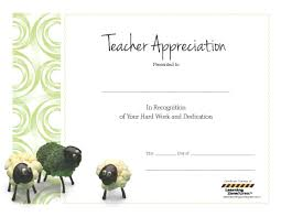 Certificate Of Appreciation For Teachers Template 5 Best Images Of