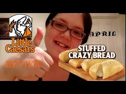 New Little Caesars Stuffed Crazy Bread Review Youtube