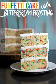 Funfetti Cake With Buttercream Frosting Sweet As A Cookie