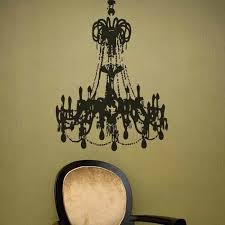 chandelier wall decal matte black large grunge chandelier on a golden teal wall chandelier wall decal