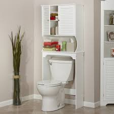 Over The John Storage Cabinet Furniture Over The Toilet Metal Scrollwork Nice 3 Shelf Bathroom