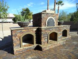 Phoenix Pizza Oven  Fireplace Combo Completed