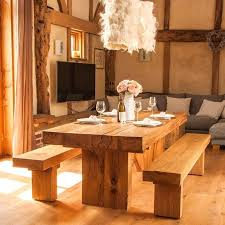 contemporary country furniture. Contemporary Country Furniture A Modern Rustic Chunky Solid Oak Dining Table In Style Suited
