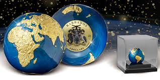 Limited Edition <b>MDM Blue</b> Marble Coin Attracts High Bids