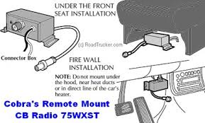 cobra remote mount handset cb radio hh 75wxst installation for cobra remote mount hh 75wxst