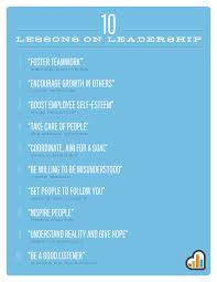 lessons on leadership shareable poster asdf