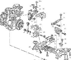 engine mounts for mk t conversion is it one of the parts in this diagram diagram is a 1992 passat