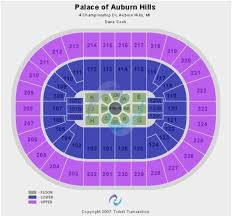 Detroit Pistons Seating Chart Palace Of Auburn Hills Competent Palace Of Auburn Hills Seating Chart Concert