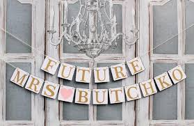 BRIDAL SHOWER BANNERS-Future Mrs Signs-Last Name Wedding shower Banners-Rustic  Bride to Be Signs-