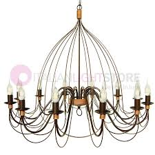 flemish maxi chandelier wrought iron rustic style 12 lights