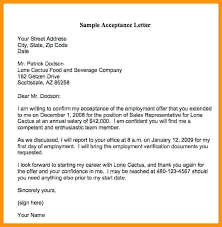 Accepting Job Offer Letter Sample Confirmation Email Template ...