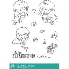 Stempel Scheune Stempelset Ssc001 Meerjungfrauen Herz Schatz Wasser Frau