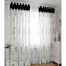 Simple Black And White Curtains E To Decorating Ideas