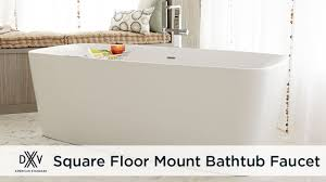 square floor mount bathtub filler faucet by dxv