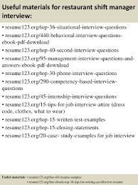 top  restaurant shift manager resume samples       useful materials for restaurant shift manager