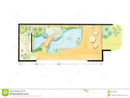 Small Picture Water Garden Design Plan Stock Illustration Image 43512822