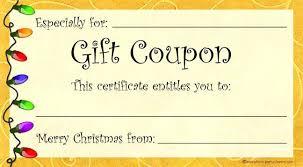 Printable Christmas Certificates Gift Certificate Template Download This Printable Christmas Free