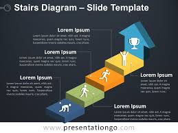 Stairs Diagram For Powerpoint Presentationgo Com